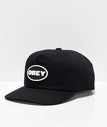 5905067e924 Obey Struggler Black Strapback Hat