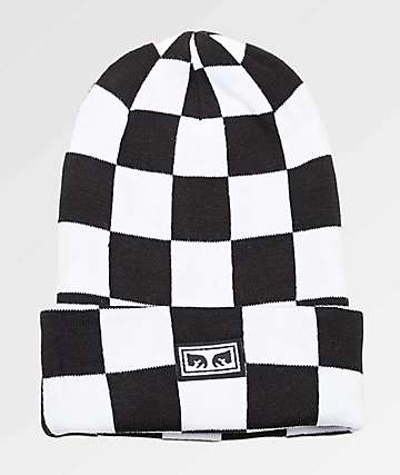 Obey Study Black & White Beanie