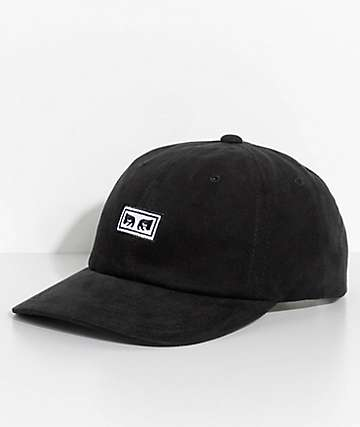 Obey Subversion Black Six Panel Hat