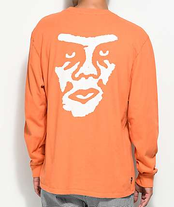 Obey The Creeper Orange Long Sleeve T-Shirt
