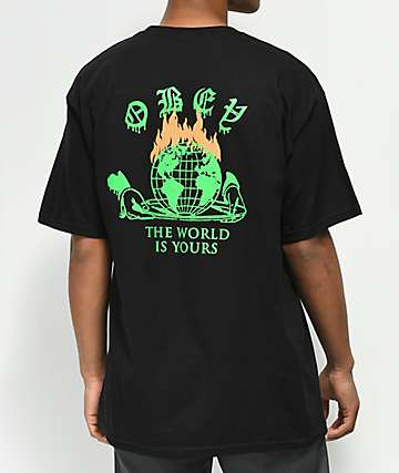 Obey The World Is Yours Black T-Shirt