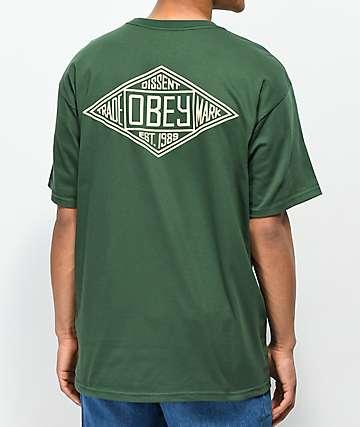 Obey Trademark Diamond Forest Green T-Shirt