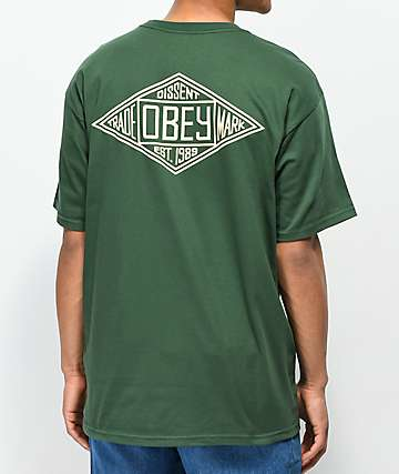 Obey Trademark Diamond Forest Green T-Shirt