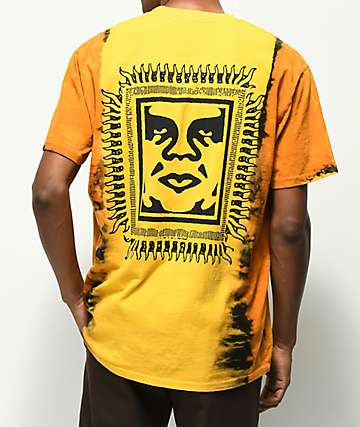 Obey Tribal People Gold Tie Dye T-Shirt