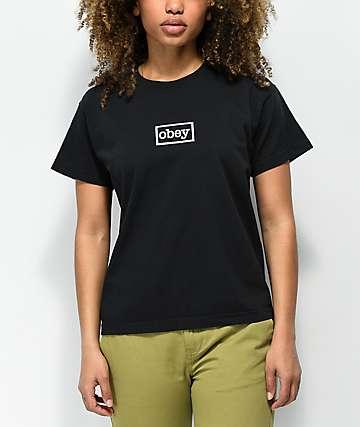 Obey Typewriter Black T-Shirt