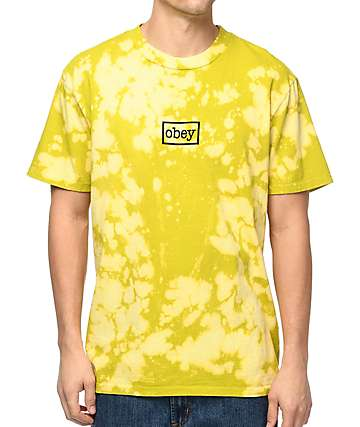 Obey Typewriter Bleached Green T-Shirt
