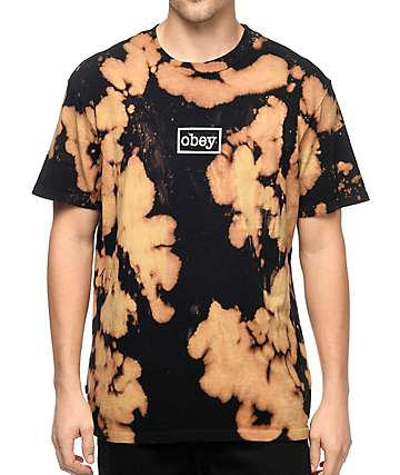 Obey Typewriter Mag Black Bleach T-Shirt