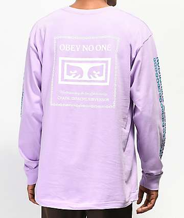 Obey Understanding camiseta lavanda de manga larga