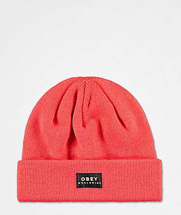 Obey Vernon Coral Beanie