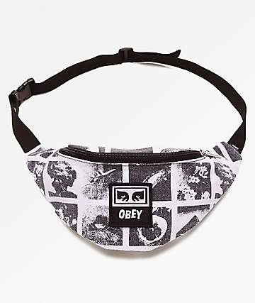Obey Wasted Black Fanny Pack