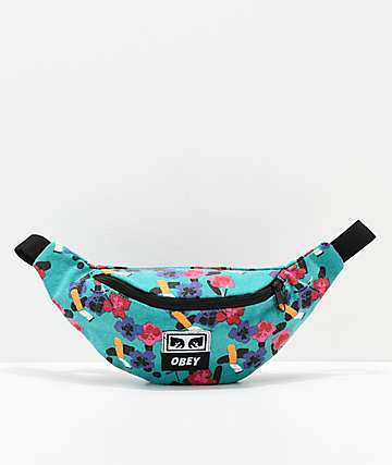 Obey Wasted Floral Fanny Pack