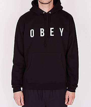 Obey Way Black Hoodie
