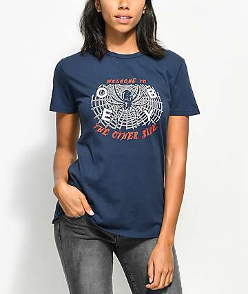 Obey Welcome To The Otherside Navy T-Shirt
