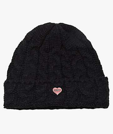 Obey Wendy Black Beanie