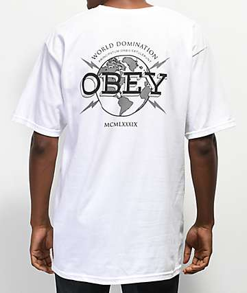 Obey World Domination White T-Shirt