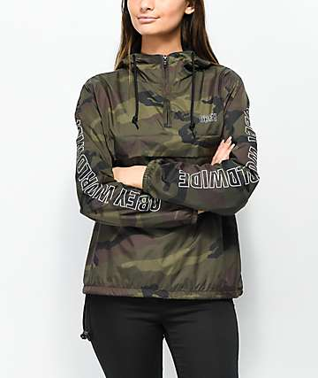 Obey World Wide Outline chaqueta anorak de camuflaje