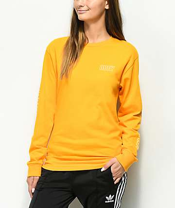 Obey Worldwide Outline Gold Long Sleeve T-Shirt