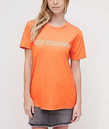 Obey Worldwide Outline Orange T-Shirt