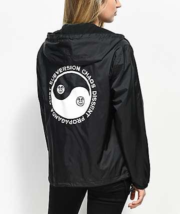 Obey Yin & Yan Black Anorak Jacket