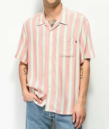 Obey York camisa de rayas rosas verticales