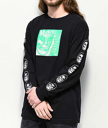 """Obey x Misfits 7"""" Cover Black Long Sleeve T-Shirt"""