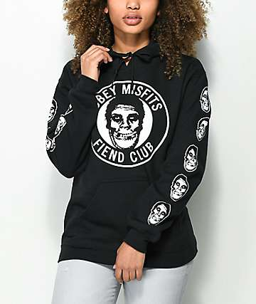 Obey x Misfits Creeper Fiend Club Black Hoodie
