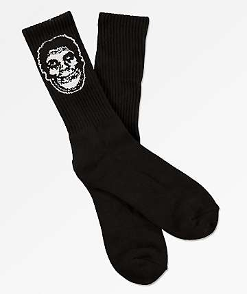 Obey x Misfits Fiend Club Black Crew Socks