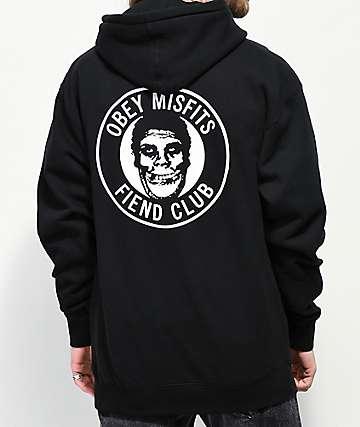 Obey x Misfits Fiend Club Black Hoodie