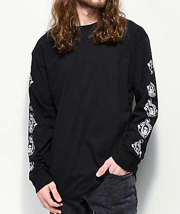 Obey x Misfits Fiend Club Black Long Sleeve T-Shirt