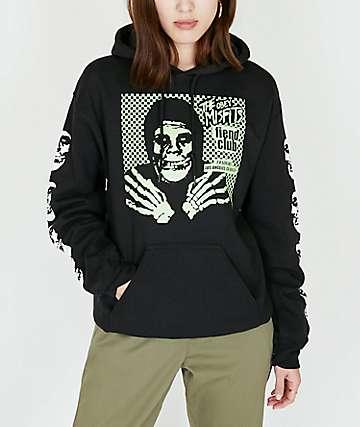 Obey x Misfits Fiend Club Halloween Black Hoodie
