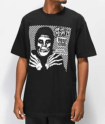 Obey x Misfits Fiend Club Halloween Black T-Shirt