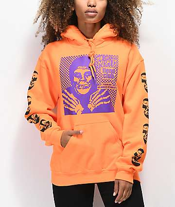 Obey x Misfits Fiend Club Halloween Orange Hoodie