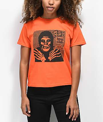 Obey x Misfits Fiend Club Halloween Orange T-Shirt