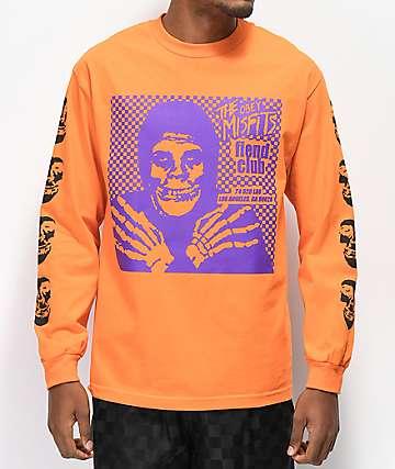 Obey x Misfits Fiend Club Halloween camiseta naranja de manga larga