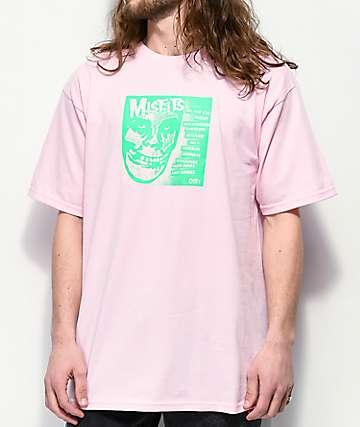 Obey x Misfits Fiend Club Pink T-Shirt