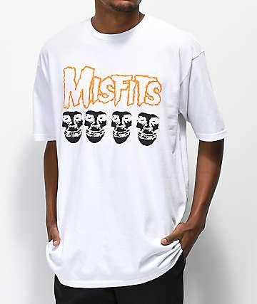 Obey x Misfits Fiend Skull White T-Shirt