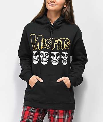 Obey x Misfits Fiend Skull sudadera negra con capucha