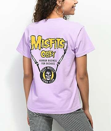 Obey x Misfits Horror Biz Lavender T-Shirt