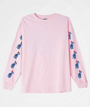 Obey x Never Made Passion Pink Long Sleeve T-Shirt