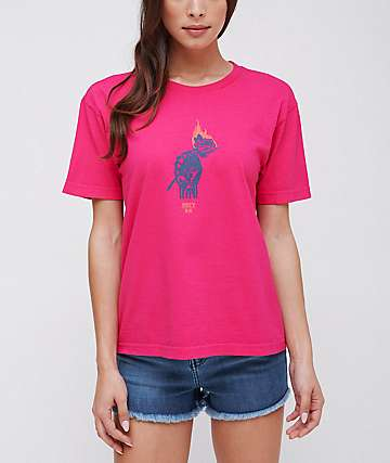 Obey x Never Made Passion Pink T-Shirt