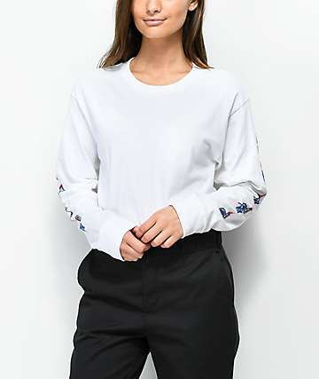 Obey x Never Made Passion White Long Sleeve T-Shirt