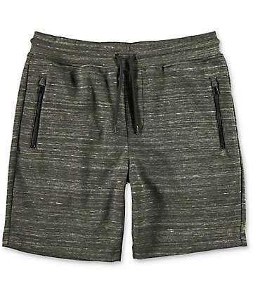 Ocean Current Magnetic Olive Sweat Shorts