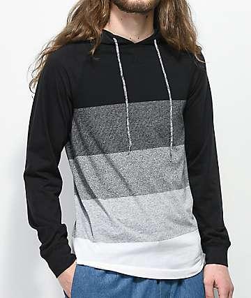 Ocean Current Oscar Striped Hooded Long Sleeve Shirt