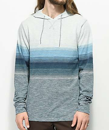 Ocean Current Vader Deep Stripe Hooded Long Sleeve Shirt