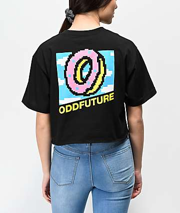 Odd Future 8 Bit Black Crop T-Shirt