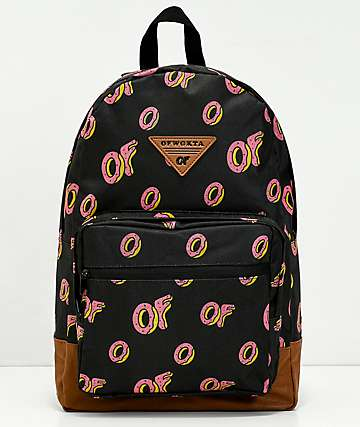 Odd Future All Over Donut mochila negra
