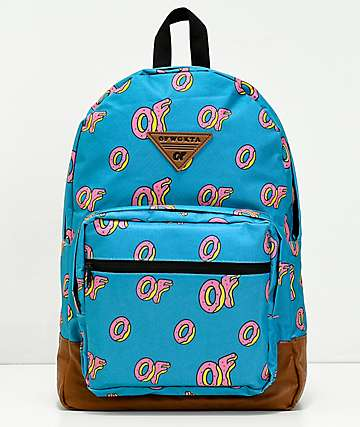 Odd Future All Over Donut mochila turquesa