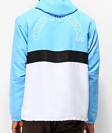 849140601489b1 Odd Future Arc Logo Light Blue Anorak Jacket