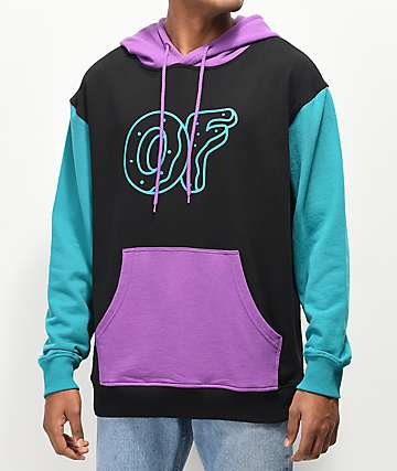 Odd Future Berry & Teal Colorblock Hoodie