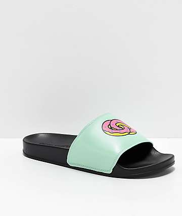 88754839f Odd Future Black   Teal Slide Sandals